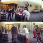On Set Of Nick Cannon Movie School Dance