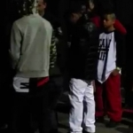 Mindless Behavior backstage before performing